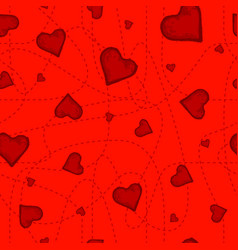 the seamless pattern of the purple heart on vector image