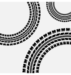 Tire track circles vector
