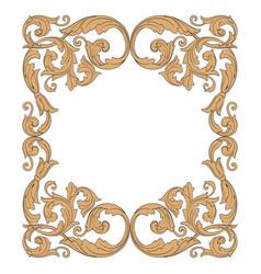 vintage baroque ornament vector image vector image