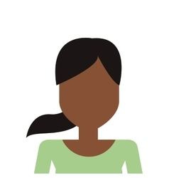 Faceless woman with ponytail icon vector