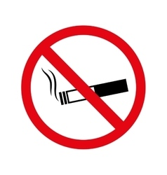 Cigarette no warning forbidden vector