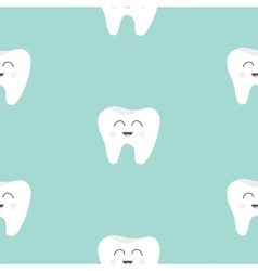 Seamless Pattern Tooth health Cute funny cartoon vector image