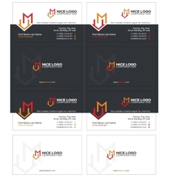 M house business card 1 vector