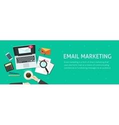Email marketing banner email analyzing or vector image