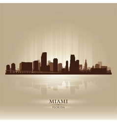 Miami Florida skyline city silhouette vector image