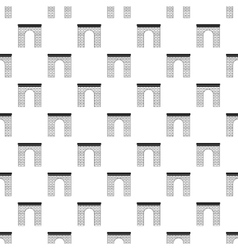 Brick arch pattern simple style vector