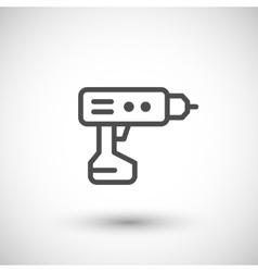 Electric screwdriver line icon vector