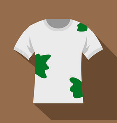 Dirty shirt icon flat style vector