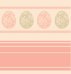 Greeting card with happy easter pastel vector