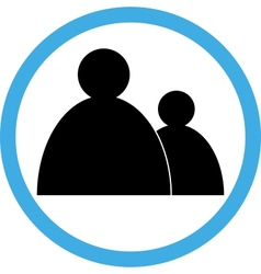 Sign circular-people vector