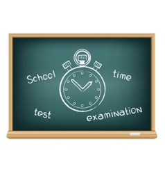 board school stopwatch vector image