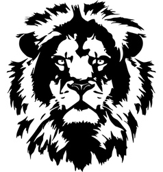 lion hed in format vector image