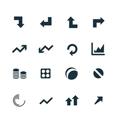 Diagram icons set vector