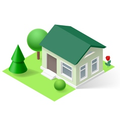 Isometric home vector image