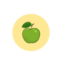 Icon colorful apple vector