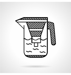 Filter jug flat line icon vector