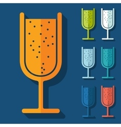 Flat design cocktail vector
