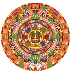 Aztec calendar vector image