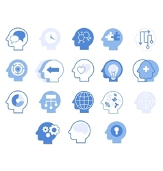 Head Silhouettes Set vector image