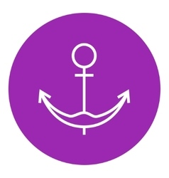 Anchor line icon vector