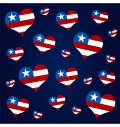 American hearts vector image vector image