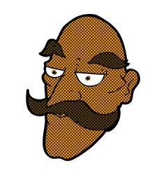 comic cartoon old man face vector image vector image