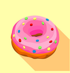 Donut icon flat style vector