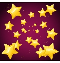 Falling golden star background wallpaper or card vector