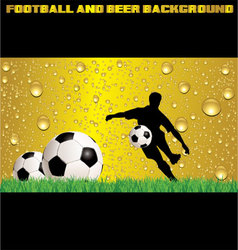 Football and beer background vector image
