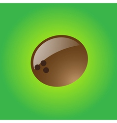 Glossy coconut vector