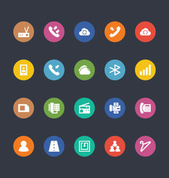 Glyphs colored icons 13 vector