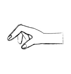 human hand holding something vector image