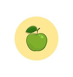 Icon colorful apple vector
