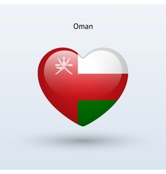 Love oman symbol heart flag icon vector