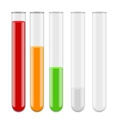 Medical chemistry vial test-tube vector