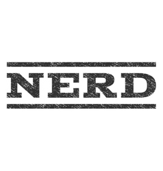 Nerd watermark stamp vector