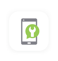 Phone repair recovery icon vector