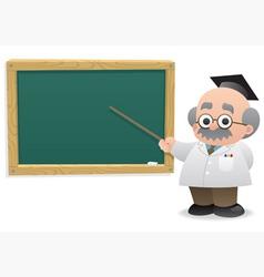 Professor blackboard vector