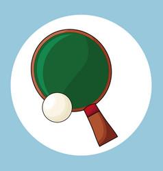 racket and ball ping pong vector image