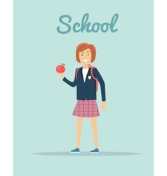School in flat style design vector
