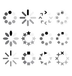 set of progress indicators vector image
