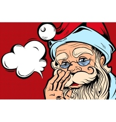 Speaking santa comic style concept vector