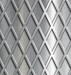 Steel geometrical background vector image