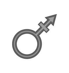 Transgender sign icon black monochrome style vector