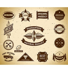 Vintage labels collection 9 vector