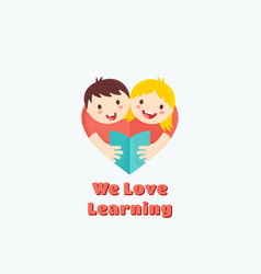 we love learning abstract sign emblem or vector image