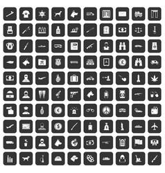 100 smuggling icons set black vector