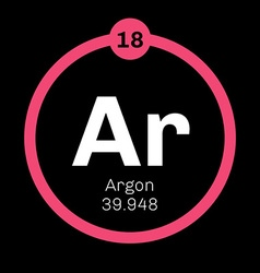 Argon chemical element vector