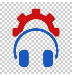 Headphones configuration gear icon vector