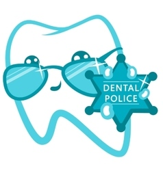 Dental police cop with a badge vector
